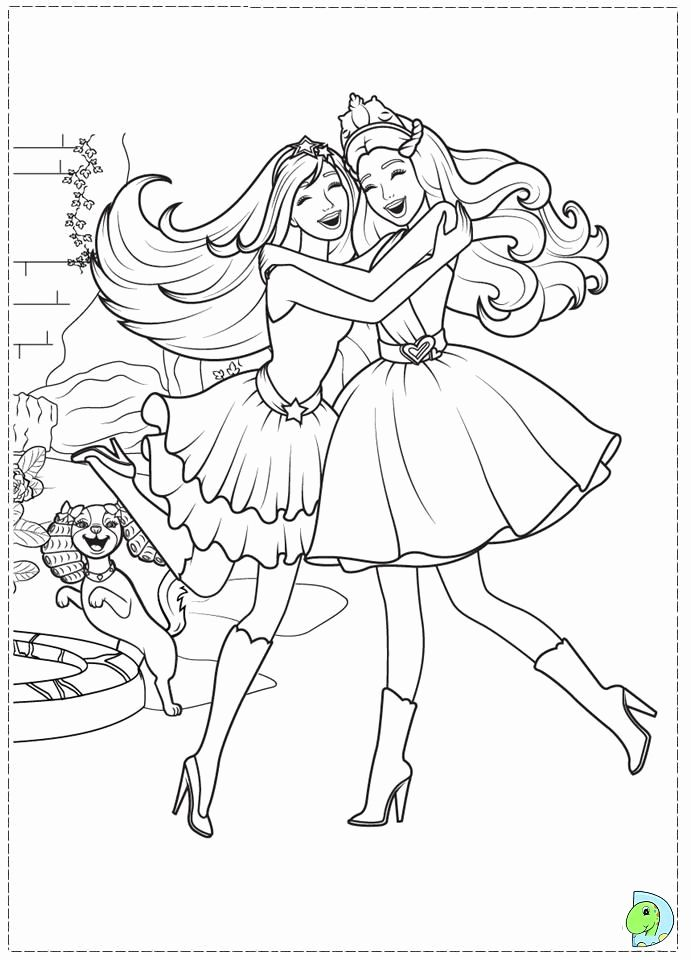 Rockstar Princess Barbie Coloring Pages Free Printable For Kids Barbie Coloring Pages Princess Coloring Barbie Coloring