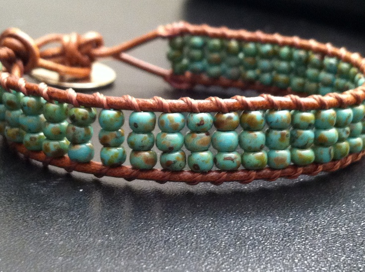seed bead triple wrapped / love the softness of this