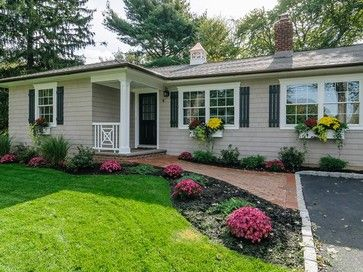 ranch house additions before and after | Cottage Ranch Before/After - traditional - landscape - new york