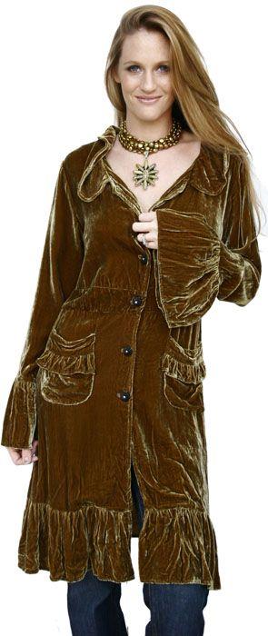 Victorian Velvet coat by Marrika Nakk.