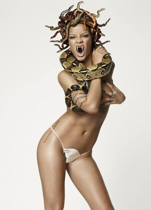 #Rihanna poses with Snake in GQ Magazine | Bright
