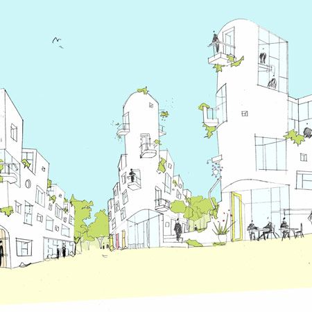 Peter Barber Architects have won a competition to design a new urban quarter at Goldhawk Road in London. The development will feature 68 homes set around pedestrian streets. Here's a little bit of info from the architects: -- GOLDHAWK VILLAGE Peter Barber Architects, with Places for People Developments, have this week been announced as winners …