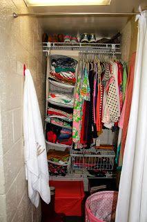 17 Best ideas about Dorm Closet Organization on Pinterest ...