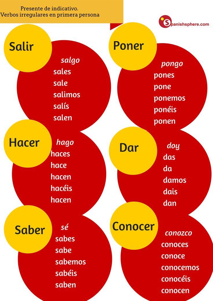 No es sal-o, es salgo. Verbos irregulares en primera persona, ¿conoces más ejemplos? #Spanish