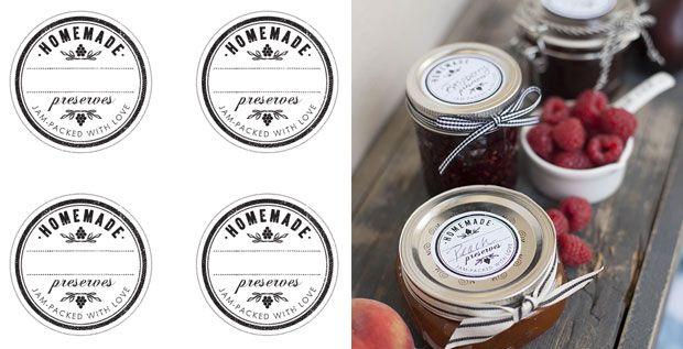 Imprimibles para etiquetas de conservas caseras