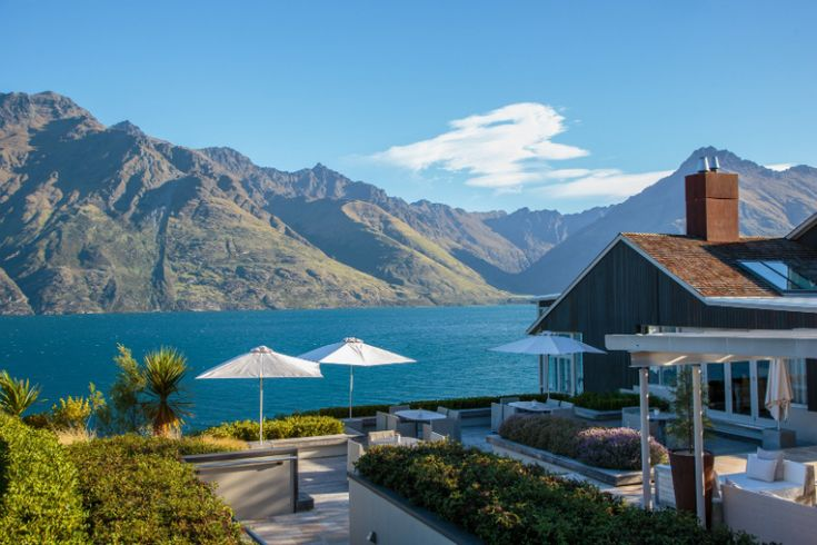 The Owner's Cottage at Matakauri Lodge is superbly positioned to offer uninterrupted lake and mountain views. Spectacularly located on the main balcony is a private Jacuzzi and outdoor courtyard area with barbecue and cooking facilities for a chef if private in-house dining is preferred #newzealand