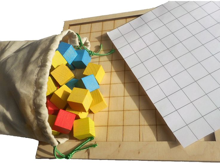 Cubes Wooden educative game for learning basic math principles