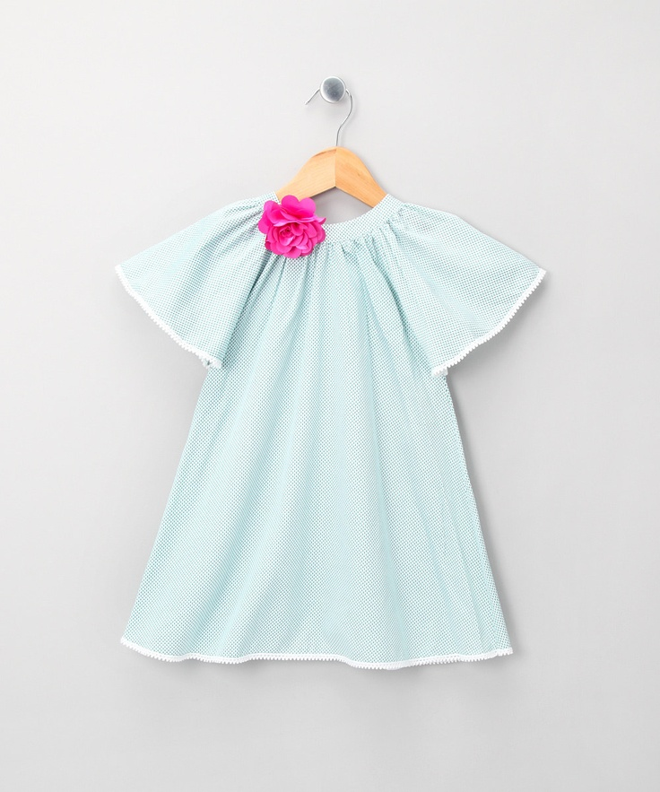 La Faute a Voltaire          Aqua & Pink Flower Melody Top - Toddler & Girls