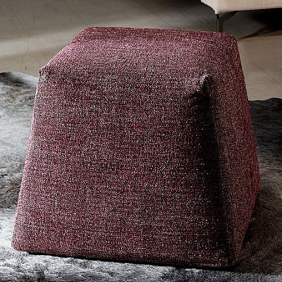 Burgundy ultramodern 'Idea' pouf. Great piece to make your room shine. High quality and luxury. My Italian Living.