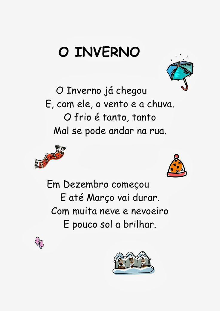 poesias infantis de inverno - Pesquisa Google