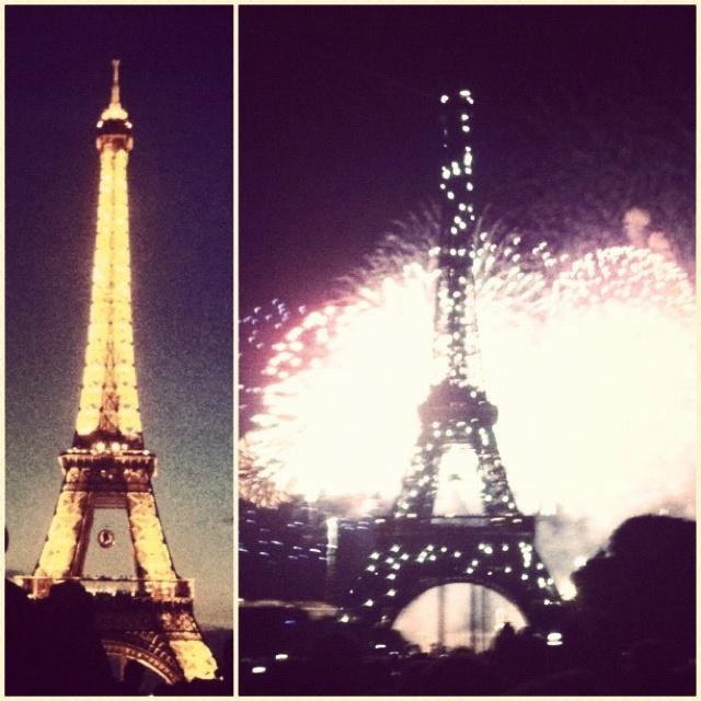 #bastilleday #eiffeltower #beforeafter #fireworks