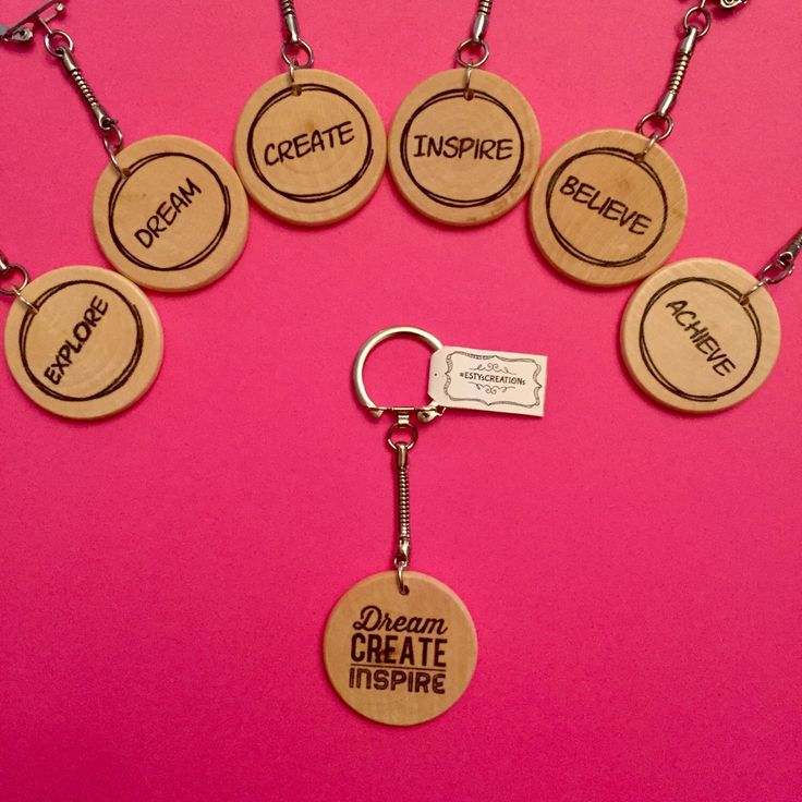 A personal favorite from my Etsy shop https://www.etsy.com/ca/listing/475513606/2-create-and-inspire-keychains-explore