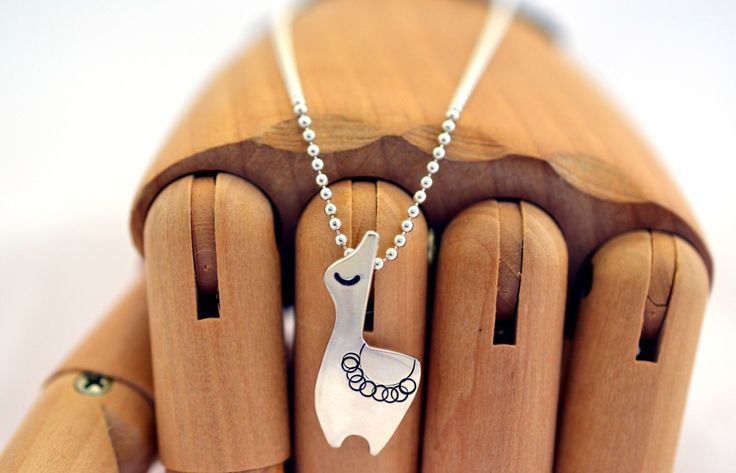 Llama Sterling Silver Alpaca Animal Hipster Pendant Necklace on sterling chain by RulitosJewellery on Etsy https://www.etsy.com/listing/95933714/llama-sterling-silver-alpaca-animal