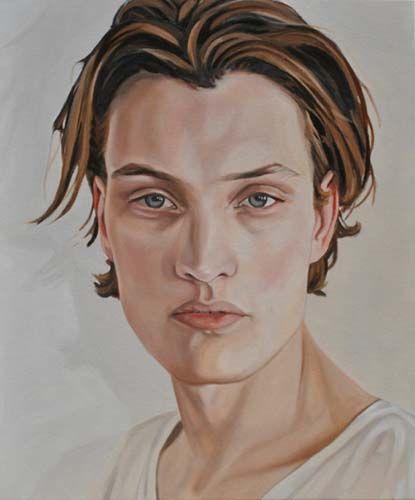 "Celeste Keller, Felix, oil on canvas, 24""x20"". $950"