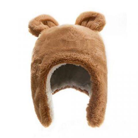 056dfeb48 Cartoon cat ears plush hat ear flaps for women winter hat with ear ...
