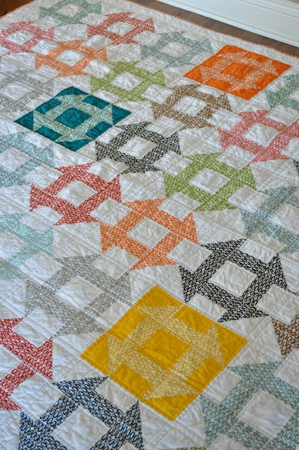 I adore Churn Dashes!!!  Quilt Story: Pezzy Churn Dash Quilt from Random Thoughts...
