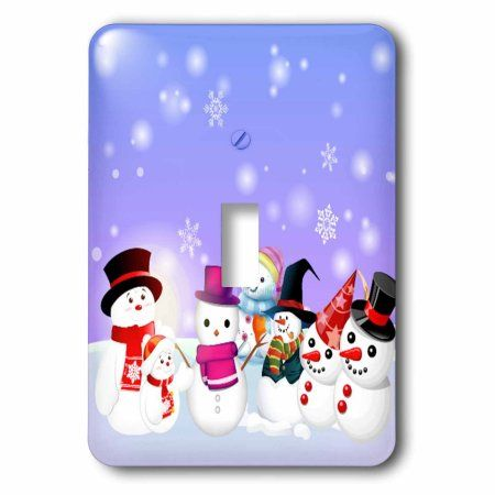 3dRose Snowman Party Cartoon, Single Toggle Switch
