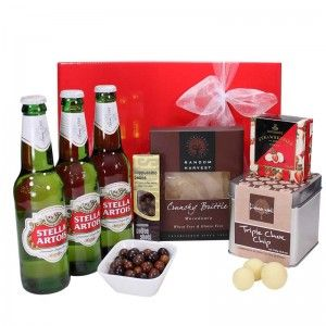 $74.00 - Stella Heavenly Hamper This refreshing Stella Artois beer hampers is perfect for those who love a cold refreshing drink! Choose from a large range of gifts for him, including gourmet food, wine & beer hampers, our gifts are delivered quickly and safely Australia wide.