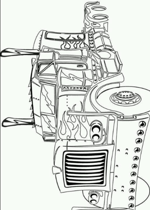 transformer optimus prime coloring pages - photo#30