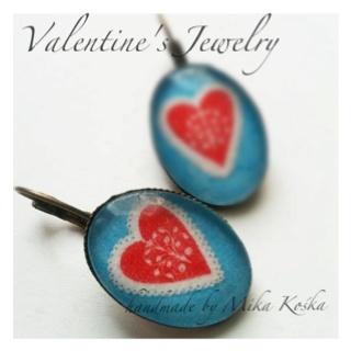 Valentine's Earrings by Mika Kośka