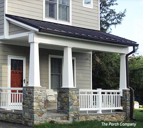 1000 ideas about front porch railings on pinterest for Front porch renovation ideas