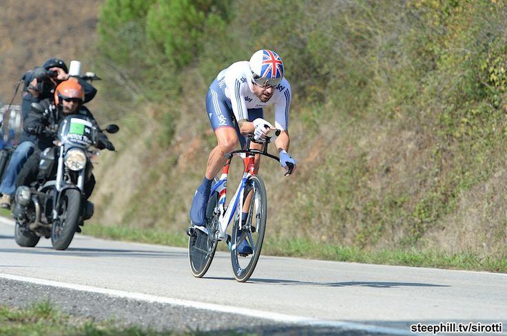 2014 road-cycling-world-championships - Bradley Wiggins (Great Britain) on the lumpy 47.1 km ITT course around Ponferrada, Spain