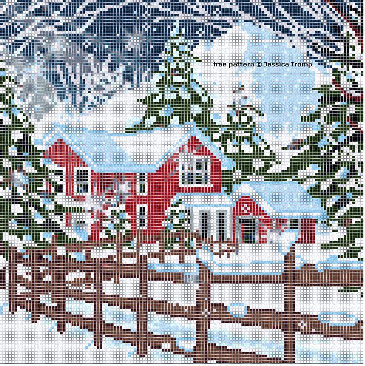 Free cross stitch patterns all sizes.