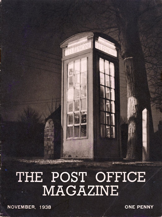 """The cover of The Post Office Magazine, November 1938. The magazine is notable for containing stunning photographs of postal scenes, some of which you can see on display as part of our exhibition """"The Post Office in Pictures"""", currently at the Lumen URC, Bloomsbury, London."""