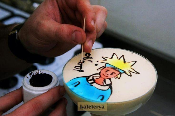 Latte art naruto