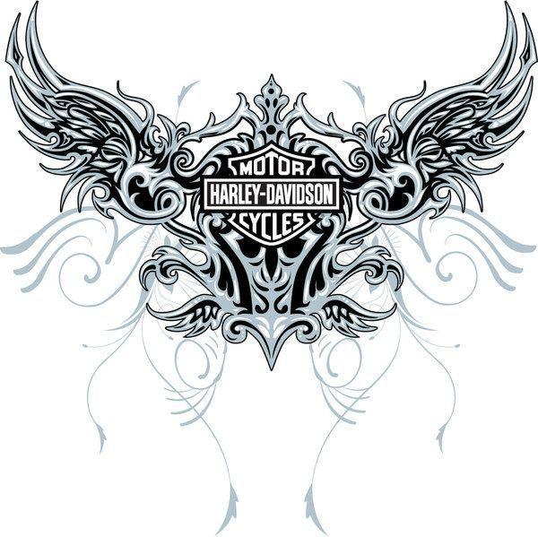 Harley-Davidson Stencil Patterns | Harley Design wings 02 by ~MalachiDesigns on deviantART