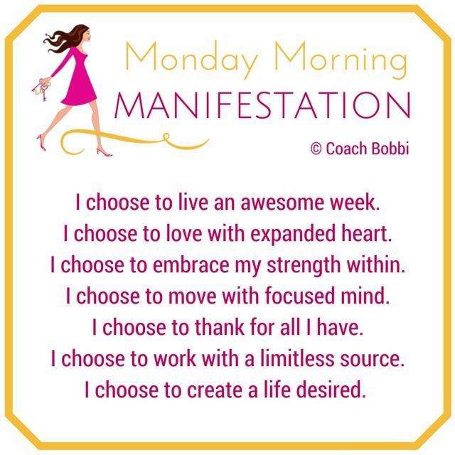 It all starts with choice. Choose well, savvy sisters! Coach Bobbi x www.askcoachbobbi.com  #monday #morning #manifest #empower #choice #choose #create #women