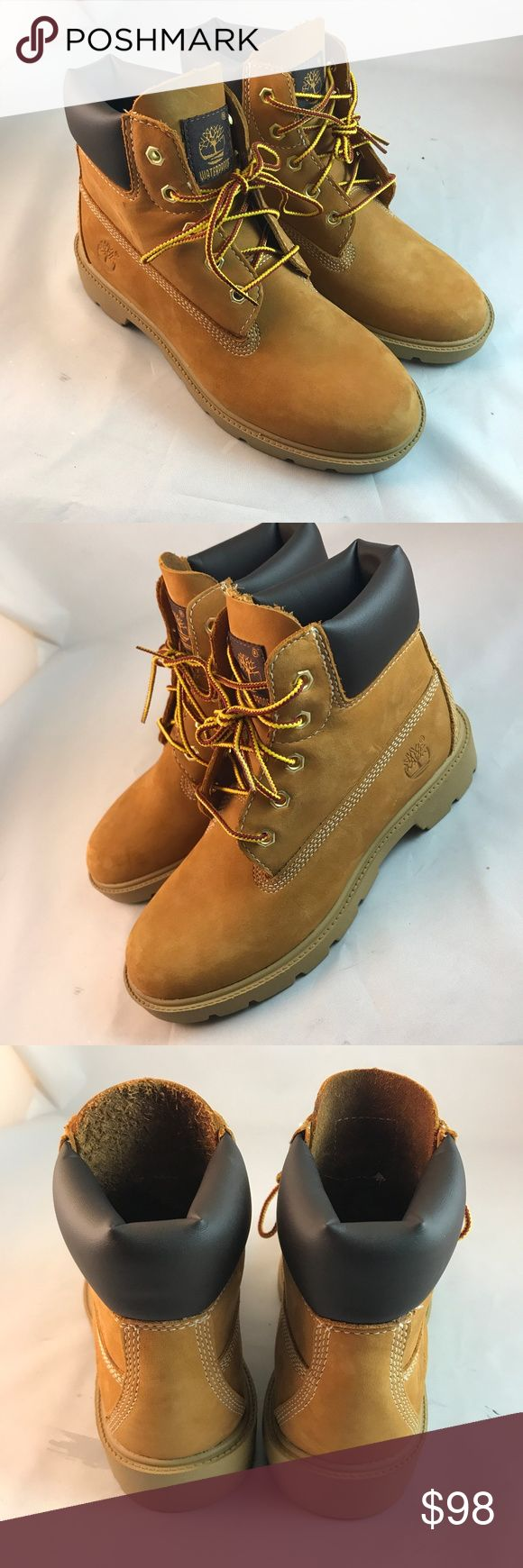 "Great Timberland Boots 3.5 Youth, Size 5 Womens TIMBERLAND JUNIOR 6"" CLASSIC WATERPROOF BOOT WHEAT 10960 Sz 3.5 Y or Size 5 Womens. Timberland Shoes Boots"