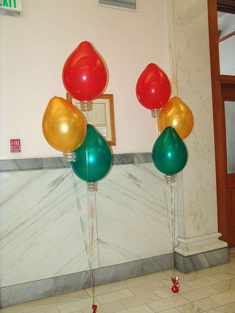 Christmas Bulb Balloons