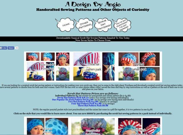 Scrub Patterns for Work or Fun: Scrub Hats Patterns