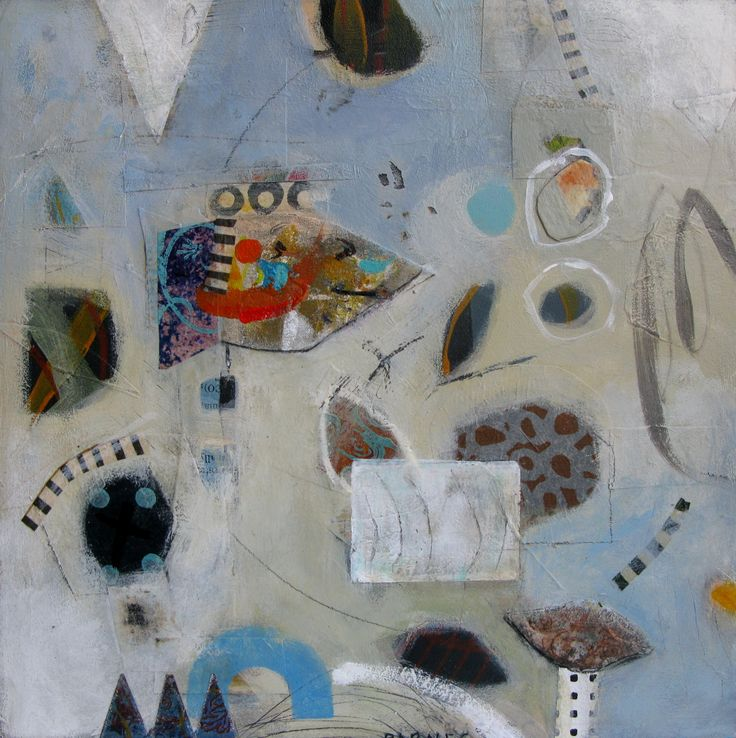 """Not a Fish"" Mixed Media on board Françoise Barnes   SOLD"
