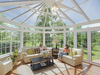 I love the idea of a conservatory-like sunroom.
