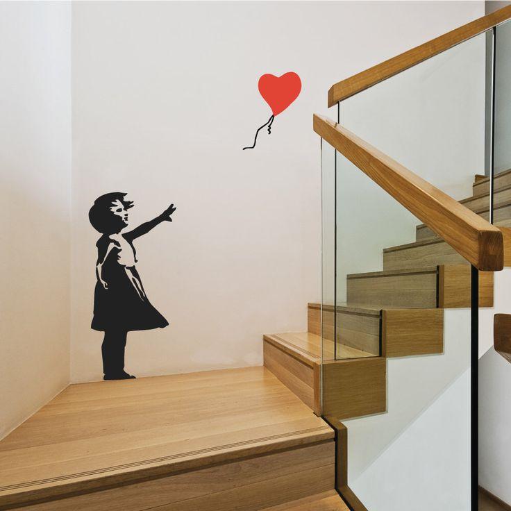 Banksy Balloon Girl Wall Stickers by Wallboss on Etsy https://www.etsy.com/uk/listing/117749305/banksy-balloon-girl-wall-stickers