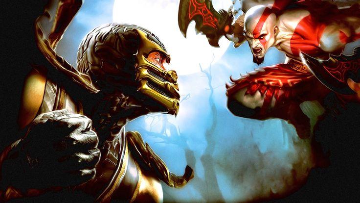 Download Mortal Kombat God Of War Fist Fighter Sword Bald Scream Wallpaper Wallpaper