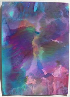 Creative Expressions: alcohol ink monoprint