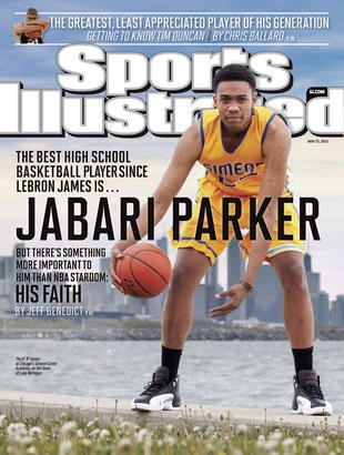 """Jabari Parker, Sports Illustrated cover, National High School Player of the Year, devout member of the Church of Jesus Christ of Latter-day Saints, attends LDS seminary, carries a copy of The Book of Mormon in his backpack, and is considering serving a two-year LDS mission after his freshman year of college. """"Basketball is what I do,"""" Parker told SI. """"It's not who I am."""""""