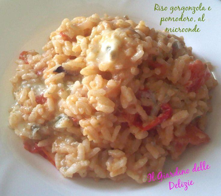 Riso gorgonzola e pomodoro