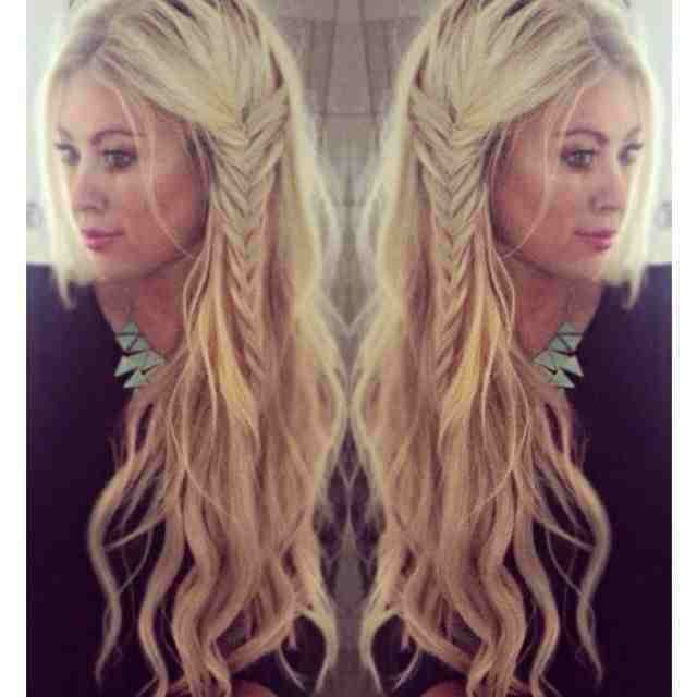 beach waves with side braid boho hairstyle