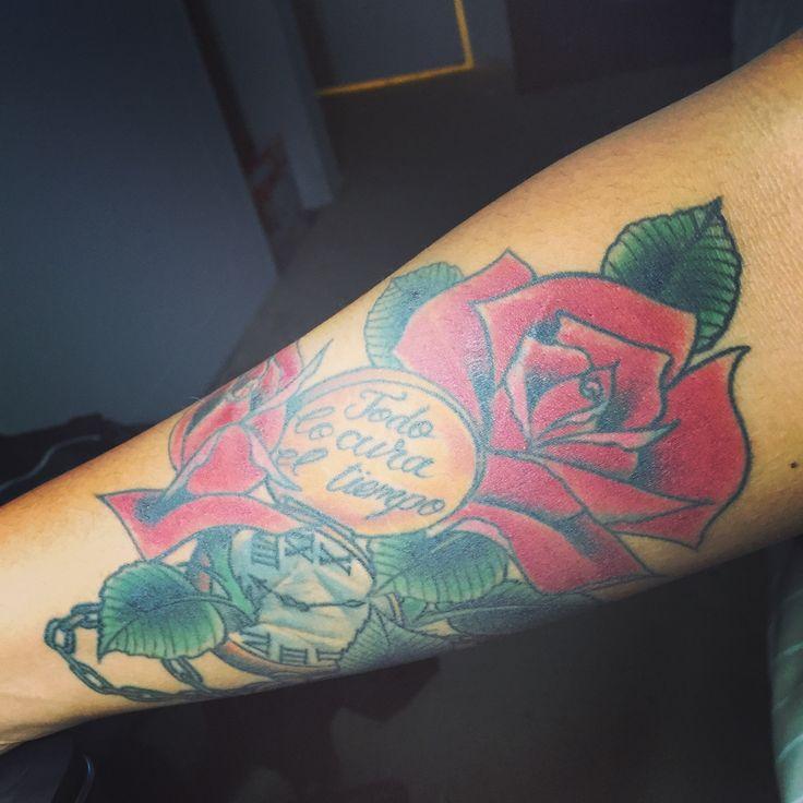 My arm piece  Todo lo cura el tiempo Time heals all