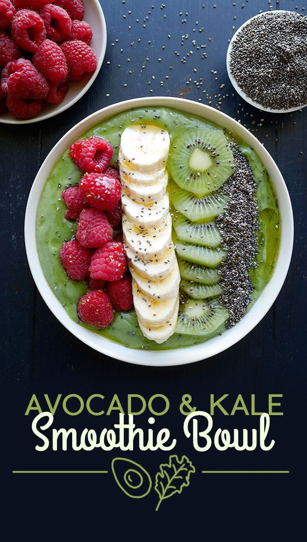 Avocado and Kale Smoothie Bowl | 11 Stunning Smoothie Bowls That Are Healthy And Delicious AF