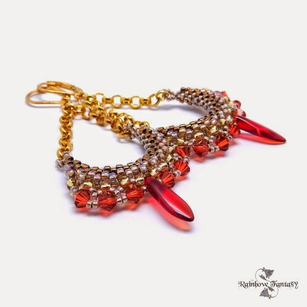 www.polandhandmade.pl #polandhandmade , #beading , #earrings