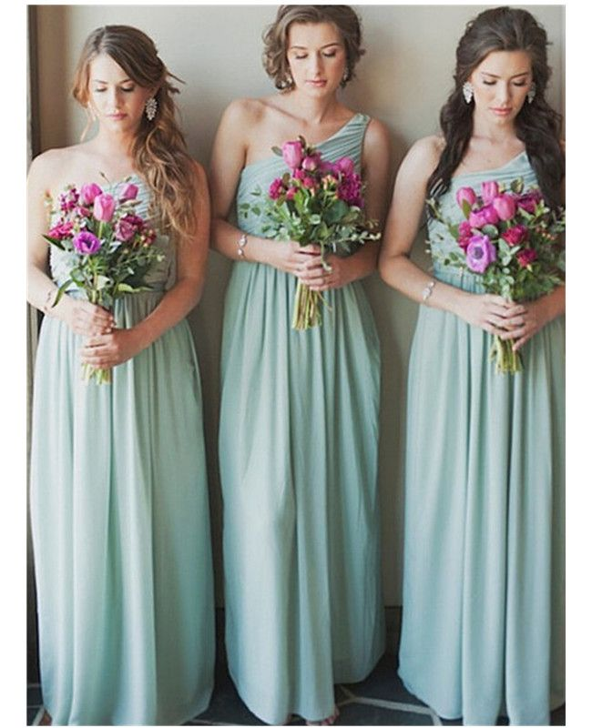Fashion A-Line Bridesmaid Dress,Chiffon Bridesmaid Dresses,One Shoulder…