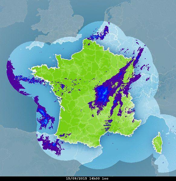ANIMATION SATELLITE et RADAR de PRECIPITATION par Météo-France