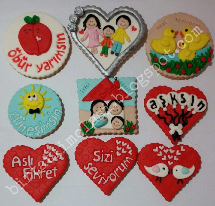 Sevgiliye eşe özel tasarım hediye kurabiyeler