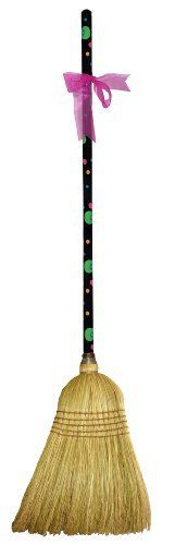 """CuteTools! 15025 Garden Broom, Polka Dot by CuteTools!. $28.00. 5 rows of reinforced stitching and a larger 15/16"""" diameter handle. Beautiful hand painted handle. Broom head has a full shoulder and is made with all corn fibers for durability and sweeping. The garden broom has a place in every garage or garden shed. the broom head has a full shoulder and is made with all corn fibers for durability and sweeping even the biggest of jobs. it could also be used for kitch..."""