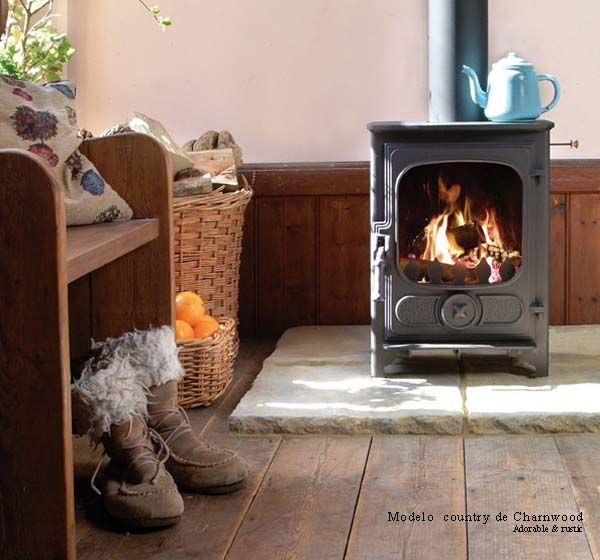 17 mejores ideas sobre estufas a le a en pinterest for Cocinas rusticas con chimenea